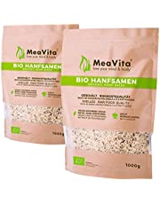 Meavita Semillas De Cáñamo Orgánico Meavita, Peladas, Paquete De 2 (2 X 1 Kg) 2000 g