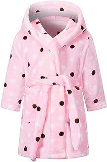 Boys Girls Bathrobes Soft Hooded Sleepwear Robe