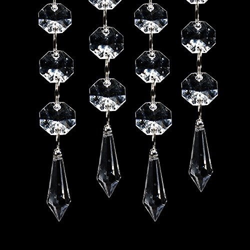 30pcs Acrylic Clear Crystal Strands Gems Bead Curtain for Wedding Centerpieces Garland/Party / Christmas Decoration