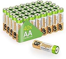 GP Batteries LR06 1.5 V SUPER Alkaline Multipacks Mignon AA Battery (Pack of 40)