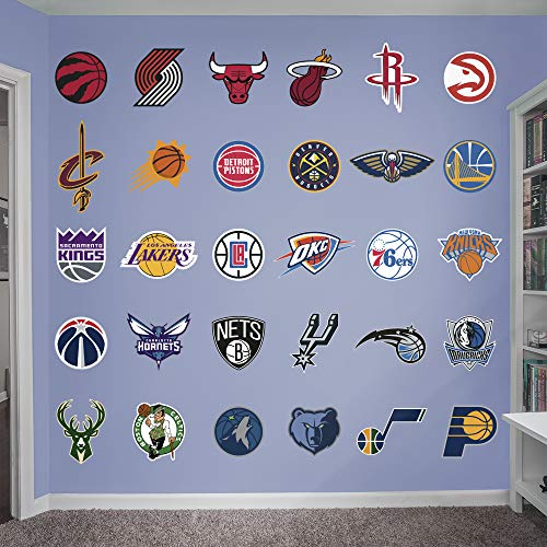 FATHEAD NBA Logo Collection- Officially Licensed Removable Wall Decals, Multicolor, Large