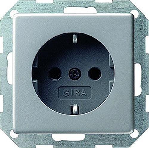 Gira 0188203 Schuko Steckdose Gira E22 Aluminium