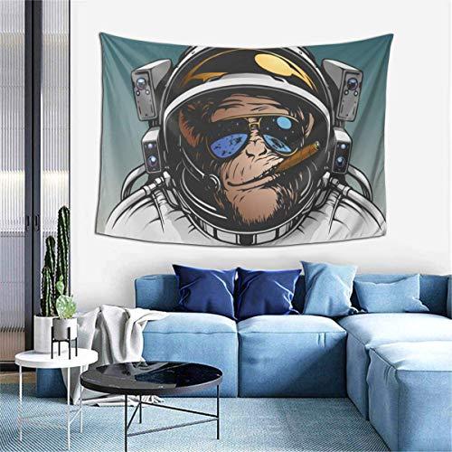 N\A Tapiz para Colgar en la Pared, Space Monkey Astronaut Cool Gorilla Spaceman Chimpanzee Tapices para Dormitorio, Sala de Estar, Dormitorio, Manta de Pared, Toallas de Playa, decoración del hogar
