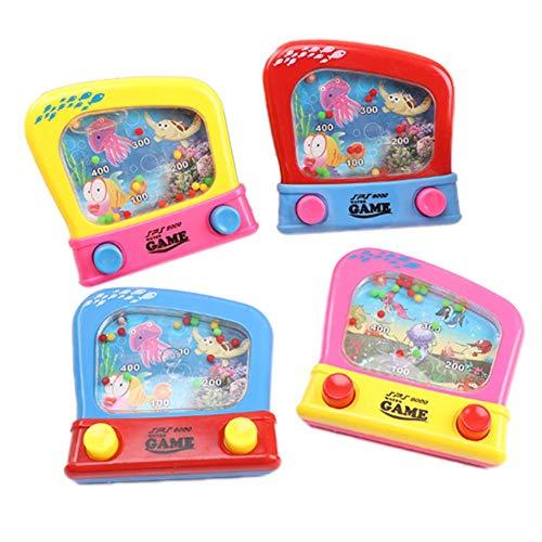 fervortop 4pcs Juego De Mano LCD Juguetes Consola De Juegos De Mano De Plástico Classic Y Retro Juego De Consola De Bolsillo para Cumpleaños Niños Mayores De 3 Años (Color Aleatorio)