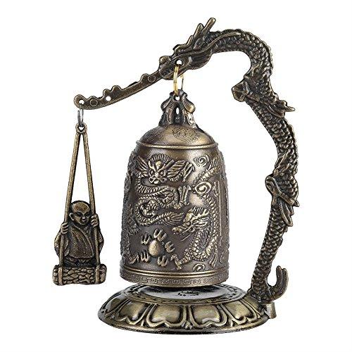 Deko-Statue aus Bronze, Drache, Monch, buddhistisch, antike Kunst, für Zuhause oder Büro