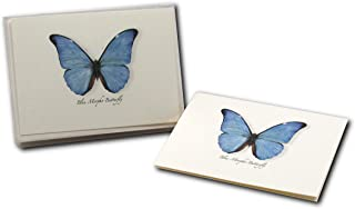 Earth Sky + Water - Blue Morpho Butterfly Notecard Set - 8 Blank Cards with Envelopes