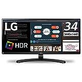 【Amazon.co.jp 限定】LG モニター ディスプレイ 34WL750-B 34インチ/ウルトラワイド(3440×1440)/IPS 非光沢/HDR/HDMI×2,DisplayPort×1/高さ調節