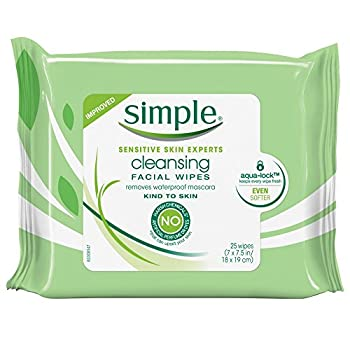 Simple Cleansing Facial Wipes 25 Count  6 Pack