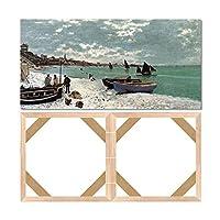 キャンバスストレッチャーバーフレーム、フレーム付きピクチャーアクセサリー、木製キャンバスフレームキット、DIYアートキャンバスフレーム、45x90cm (18x35インチ)