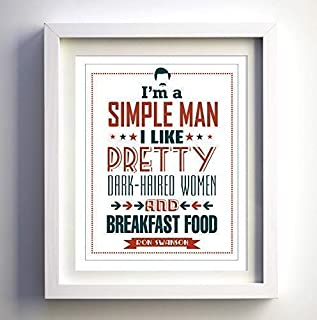 Ron Swanson quote Parks and Rec Parks fan and Recreation TV show wall art print humorous wall art decor gift for him gift for man humor art print simple man