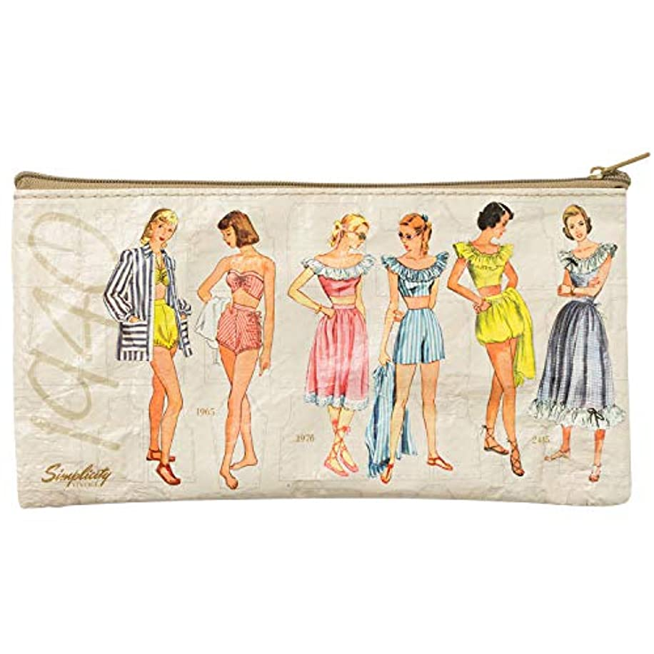 Simplicity Vintage 1940's Fashion Small Zipper Pouch, 4.25'' x 8.5''