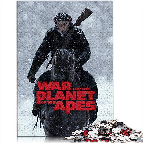 Puzzle für Erwachsene 1000 Teile War of The Planet of The Apes 1000 Stück Puzzle Wohnkultur Movie Poster Logik Puzzle Kunst Gehirn Herausforderung Puzzle Spielzeug (52x38cm)