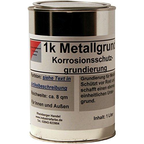Kunstharz Rostschutzgrund, Metallgrund, mit Zinkphosphat, weiß, 1 Liter