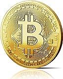 SUMEDTEC Moneda física de Bitcoin revestida en Oro auténtico de 24 Quilates. Una verdadera Pieza de coleccionista, con Estuche Protector. Una adquisición obligada para Todo fanático del Bitcoin