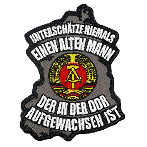 Aufnäher Aufbügler Patch Alter Mann aus der DDR