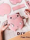 FunSpace Kit de costura de bricolaje, manualidades, precioso bolso de piel con todos los accesorios, cumpleaños único para niñas, niños, estudiantes, adultos adolescentes (rosa)