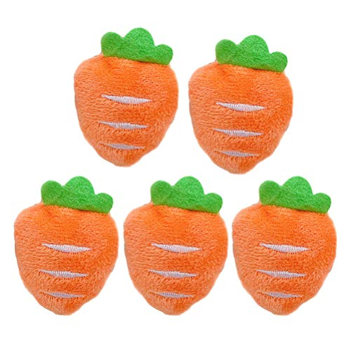 VALICLUD 5Pcs Adorable Plush Carrot Shaped Brooch Hair Band Bag Shoes Brooch Pin Decor for Women (Carrot Brooch)
