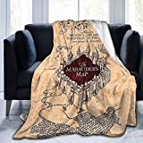 Ai Weier Extra Soft I Like Exercise Marauders Map Throw Blankets, Sherpa Flannel Travel Blanket Throw Wearable Blankets, Large Blanket for Bed Couch Sofa Chair Dorm (5040)