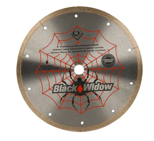 QEP 8-Inch Black Widow Micro-Segmented Rim Tile Saw Blade