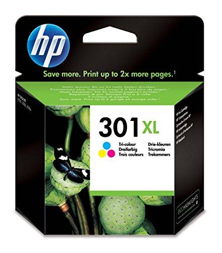 HP 301XL cartouche d'encre trois couleurs grande capacité authentique pour HP Envy 4505 et HP DeskJet 1050/1512/2548/3057A (CH564EE)