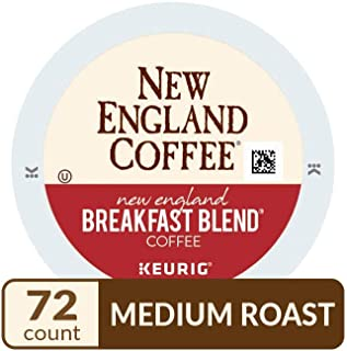 New England Coffee New England Breakfast Blend, Single Serve Coffee K Cup Pods, Medium Roast, 12Count (Pack Of 6)