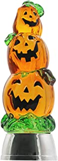 DRomance Color Changing LED Pumpkin Light Battery Operated with 6 Hour Timer, 3-Tiers Lighted Water Lamp Swirling Glittering Jack O Lantern Halloween Decoration(3.7 x 11 Inch)