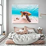 Pintura De Pintura De Tortuga De Mar Impresión Ocean Turtle Pósteres Imágenes De Arte De Pared para Baño Decoración De Niños Detalle Decoración Lienzo Impresión-13X18 Cm Sin Marco
