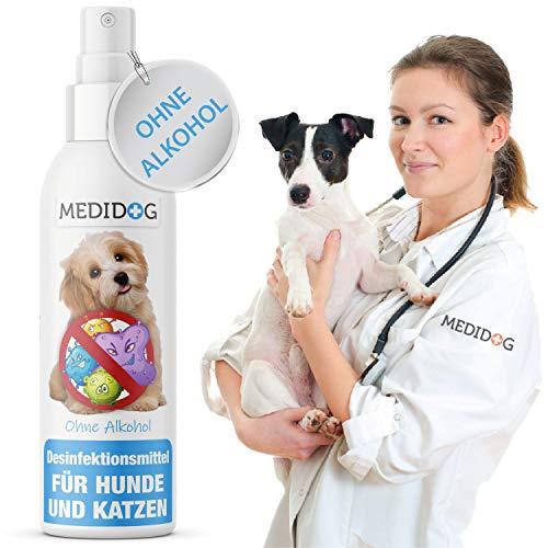 Medidog Desinfektionsmittel + Geruchsentferner für Tiere, Giardien EX, Hygiene-Konzentrat speziell für Haustiere zur Desinfektion von Fußböden, entfernt auch Starke Gerüche zuverlässig