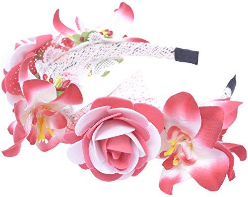 Unbekannt Retro Boho Vintage Blüten Flower Hippi Haarreif/Haarschmuck Rockabilly