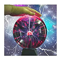 AXTMR ユニセックスジャイアントプラズマボール、タッチして音を制御できる USB サンダーボール、科学雷ボールマジックボール、誕生日プレゼントや寝室の装飾として使用できます,touch6.5in,size