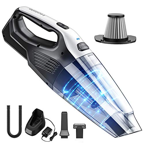 Great Features Of Holife Handheld Cleaner Cordless, 7kpa Portable Hand Vacuum with Replaceable Batte...