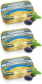 GRETHER'S Pastilles Blackcurrant Sugar Free 60g/2.1oz - 3 Pack