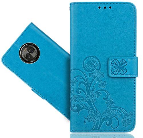 Motorola Moto X4 Handy Tasche, FoneExpert® Wallet Hülle Cover Flower Hüllen Etui Hülle Ledertasche Lederhülle Schutzhülle Für Motorola Moto X4