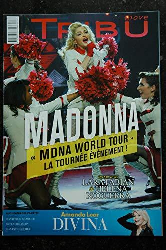 TRIBU move 171 AOUT 2013 COVER MADONNA MDNA WORLD TOUR AMANDA LEAR LAR FABIAN HELENE NOUGUERRA