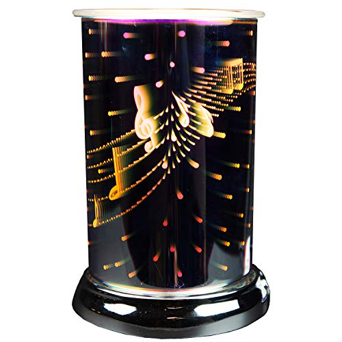 Cello Holographic Electric Melt Burner - Symphony - Electric, Suitable for Scented Wax Medallions and Melts and Essential Oils, Safe to use with pets and kids, No Need for Flame, Aromatherapy.