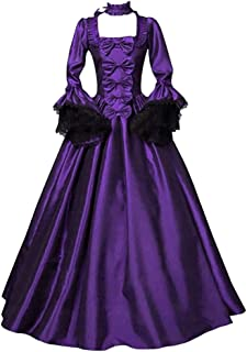 Aniywn Women's Halloween Costume Vintage Retro Gothic Long Gown Dresses Swing Party Dress
