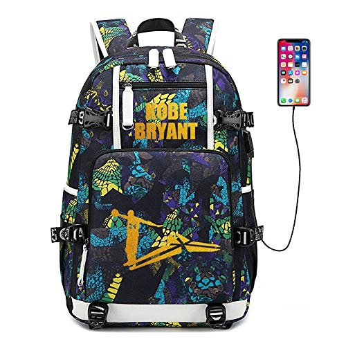 Appiu Mamba commemorate the beginning of high school sports shoulder bag backpack schoolbag student bag boys basketball USB port backpack camping, school, travel, hiking laptop backpack (Color : 15)