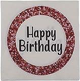 Tovaglioli per compleanno – dimensioni 33 x 33 cm – Contenuto della confezione: 20 pezzi stampati con Happy Birthday e bel motivo.