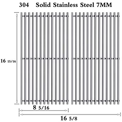 Htanch SF6123(2-Pack) Stainless Steel Cooking Grates Grid for Charbroil 463250210, 463250211, 463250212, 463251413, 463251414, 466251413; Thermos 461633514 Gas Grill
