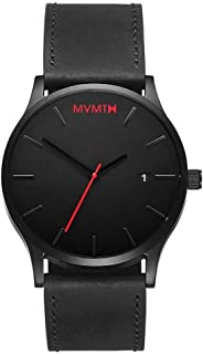 MVMT Mens Analogue Quartz Watch with Leather Calfskin Strap D-L213.5L.551