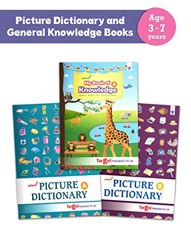 Picture Dictionary and General Knowledge Books for Kids   3 to 7 Year   Alphabets, Numbers, EVS and GK   Includes more than 550 Activities   Set of 3 [Paperback] Content Team at Target Publications