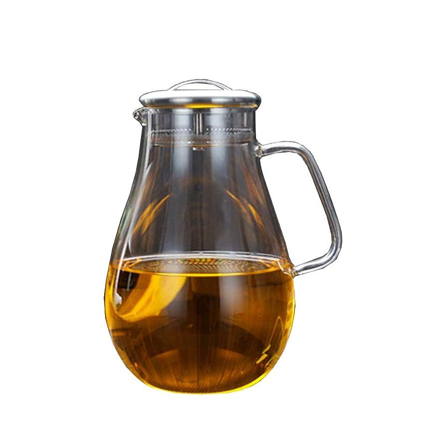 邪魔するマニフェストダイアクリティカルWonderful lifE 冷水筒 2L ガラスポット glass bottle ホウケイ酸塩ガラス ジャグ ティーポット ピッチャー 茶器 茶ポット 耐熱 冷蔵庫 直火 麦茶 ステンレス 茶こし付き 大容量 おしゃれ きれい 母の日 ギフト 環境保護 高品質 手工制作