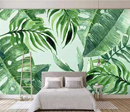 Amazon Com Murwall Leaf Wallpaper Tropical Leaves Wall Mural Watercolor Drawing Wall Art Living Room Bedroom Entryway Natural Home Design Handmade In addition to conservation of the mural, the américa tropical project includes a protective shelter, public viewing platform and an interpretive center. murwall leaf wallpaper tropical leaves