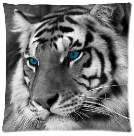 Tiger Beautiful Design Cushion Case Throw Pillow Covers 18x18 inch (one side)
