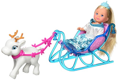 Simba - Evi Love Princesse des Glaces Traineau - Mini Poupée 12cm - 1 Cerf Blanc Inclus - 105737248