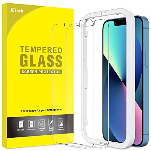 JETech Pellicola Protettiva Compatibile con iPhone 13/13 Pro 6,1 Pollici, Vetro Temperato con Strumento di Installazione Facile, Pacco da 2