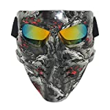 Lawnite Skull Airsoft Mask,Full Face Protective Paintball Masks,Airsoft Tactical Mask for Outdoor Cs Wargame, Eye Protection Mask, Cosplay and Movie Camouflage Mask