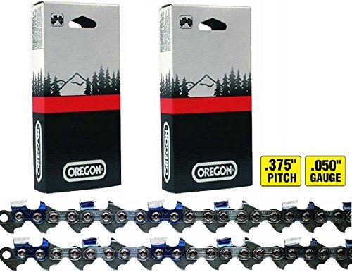 2 oregon chisel chainsaw saw chains 3/8 .050 84DL 72lgx084g ;HJ#7-545/MKI94 G1539293