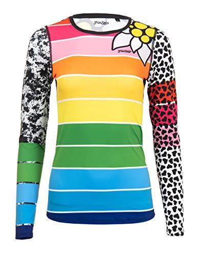 FreiSein Camiseta de manga larga funcional Base-Layer en ligero Quickdry calidad para mujer, Mujer, StripeIt, small
