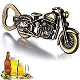 Abridor de botellas vintage para motocicleta, de Gookuurl, abrebotellas de metal para bar, fiesta, regalo único de cerveza en motocicleta, regalo para hombres (color bronce)